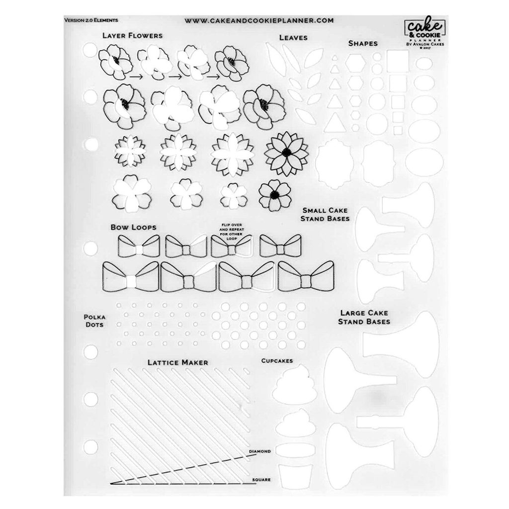 Cake /& Cookie Planner Cake Sketching Templates Round