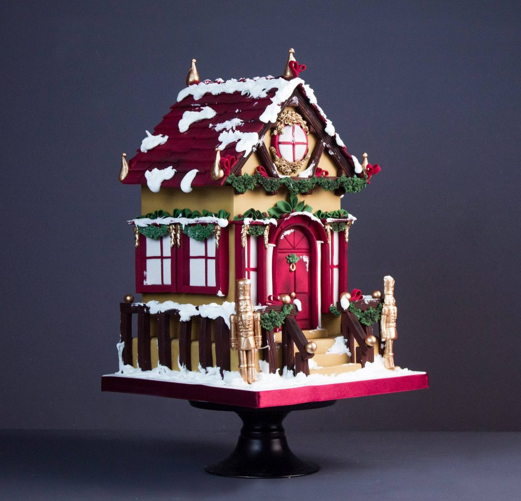 Fondant Gingerbread House Tutorial. Christmas Cake