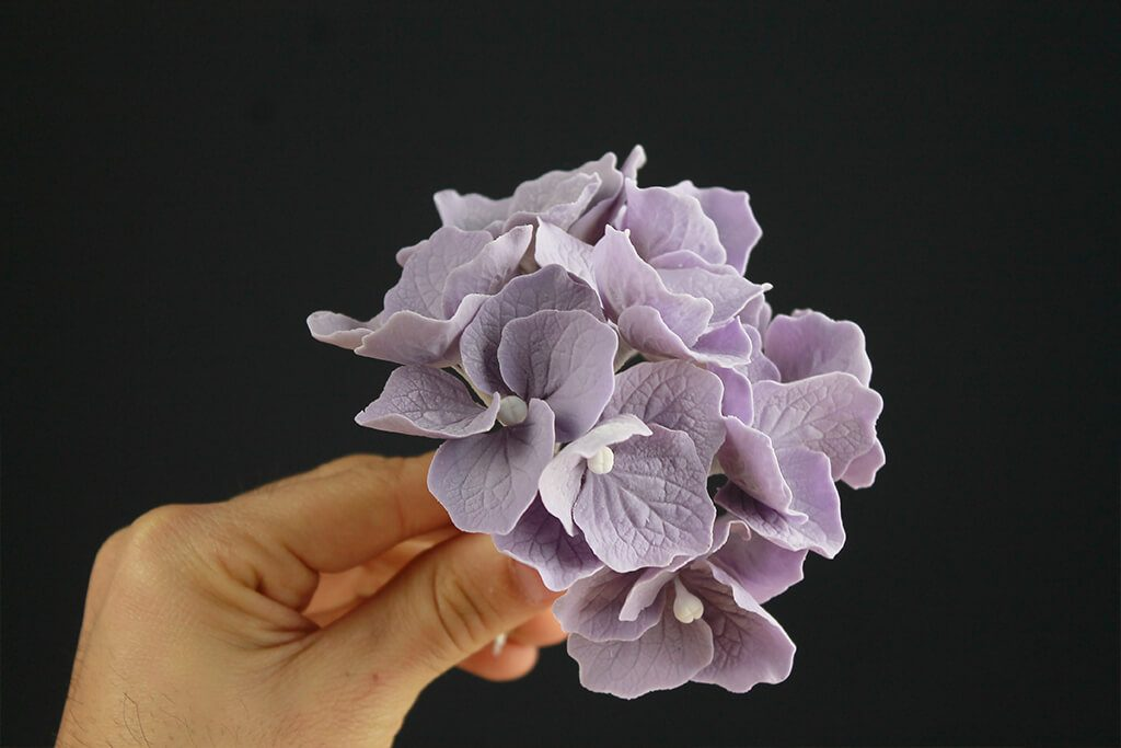 How To Make Hydrangea Flowers And Crackled Fondant