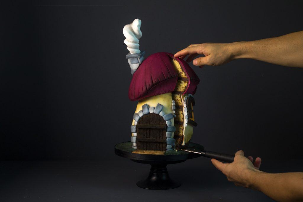 Tutorial tarta tallada: Casa Seta