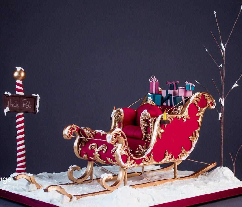 Santa's Sleigh Tutorial. Christmas Cake
